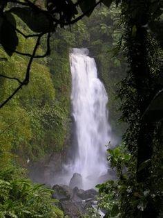 Island of Dominica, Rousseau.  Trafalgar falls on Dominica.