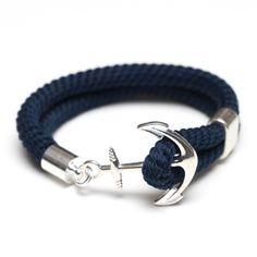 0a93240a5507 Anchor Bracelet - Navy Silver Pulsera De Ancla Hombre