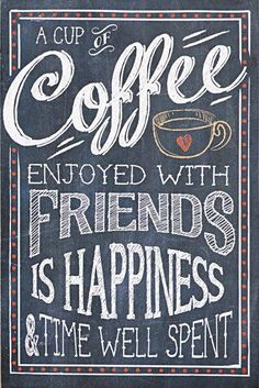 Gift Craft A Cup of Coffee Wall Plaque Chalkboard