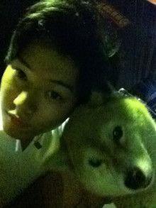"Kento Yamazaki, w his dog ""Mame""<3, 2011"