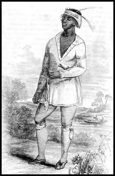 The Black Seminoles are a small offshoot of the Gullah who escaped from the rice plantations in South Carolina and Georgia. They built settlements on the Florida frontier that in the 18th century was a vast tropical wilderness. It offered a refuge to escaped slaves and refugee Indians. In time, the two groups came to view themselves as part of the same tribe. The Gullahs adopted Indian clothing, while the Indians acquired a taste for rice and appreciation for Gullah music and folklore.