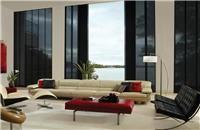 Cortinas: Paneles Orientales para Living - Estética ZEN - Paneles que se deslizan lateralmente / Living room blinds curtains windows covering decoración ventanas salón sala oriental
