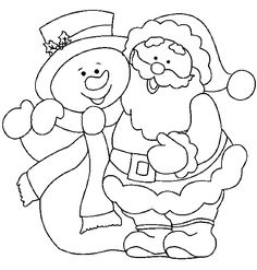 christmas santa and snowman coloring page snowman coloring pages christmas coloring pages christmas colors