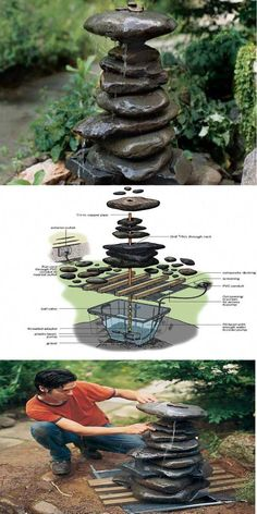 I decided to show you some DIY garden decorating ideas that will make amazing garden.You can also make your garden special with decorations. DIY Garden Decorating Ideas That Will Make Your Garden Amazing Diy Garden Furniture, Diy Garden Decor, Furniture Ideas, Garden Ideas Diy, Diy Garden Fountains, Outdoor Fountains, Water Fountains, Japanese Garden Design, Japanese Garden Backyard