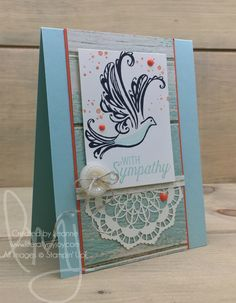 Dove Sympathy | Stampin\' Up! | Flourishing Phrases | Timeless Textures | Strength & Prayers #literallymyjoy #dove #sympathy #BloggingFriends #bloghop #watercoloring #SereneSceneryDSP #20162017AnnualCatalog #2017OccasionsCatalog