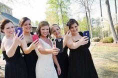 A.S.W. Weddings: Wedding Day Selfies  ©Amber S. Wallace Photography, North Carolina
