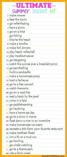 Summer is probably my favorite time of year! And I know I'm not alone. As the weather gets warmer, I just get more excited thinking of all the activities that a