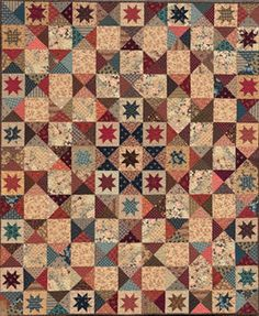 Civil War Quilts: Stars in a Time Warp 11: Purple