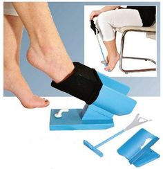 Easy On Easy Off Sock Aid Kit includes the easy off sock aid for removing socks, and an easy on sock aid for putting on socks. Easy on sock aid holds a sock open, allows user to put on socks without bending. Easy off sock handle pushes sock off. Adaptive Equipment, Medical Equipment, Guillain Barre, Floor Molding, Shoe Horn, Assistive Technology, Medical Technology, Elderly Care, Easy