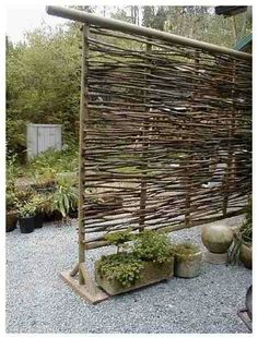 To creat privacy and different space in the garden