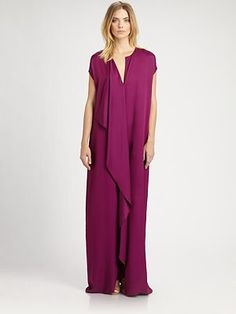 The Row Silk Priston Dress at Saks. This is just fucking ugly. I'm sorry but who in their right mind would wear this?