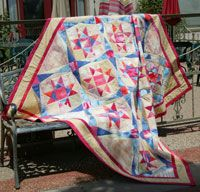 Playa Estrella by Janet Jo Smith in Best Fat Quarter Quilts 2014.