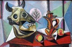 Still life with Bull's Skull, Pablo Picasso
