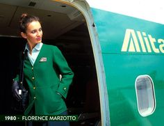 The evolution of Alitalia uniforms – in pictures - The National Airline Uniforms, Staff Uniforms, Airline Tickets, Alitalia Airlines, Flight Attendant Hot, Commercial, Italian Life, Cabin Crew, Cinque Terre
