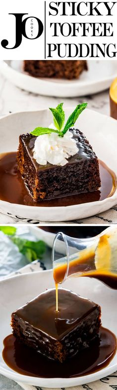 This Sticky Toffee Pudding is super moist and delicious, drenched in a dark, rich and sticky toffee sauce. A classic British dessert that's the ultimate comforting treat and perfect for any occasion. #stickytoffeepudding