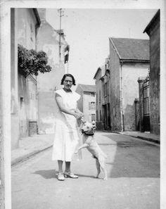 Photographie Anonyme Vintage Snapshot Sartrouville RUE Street Chien DOG   eBay