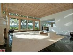 Former home (living room) of Elvis and Priscilla Presley from 1967 to 1973 (just before and during their divorce) in Beverly Hills, CA. Selling for 12.9 million. 1174 North Hillcrest Rd. Beverly Hills, CA.