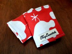 Red and White Hippos Infant Carseat Strap Covers by TinyEssentials