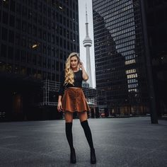 ON – Toronto, Ontario, Canada. This 2015 picture is from Lauren Riihimaki's Instagram account @ laurdiy. Laura is a Canadian blogger and YouTube vlogger with her LaurDIY channel. She's at the Toronto-Dominion Centre, King St. W. & Bay St., in the Financial District. In the background is the CN Tower. https://www.google.ca/maps/place/TD+Centre/@43.6446862,-79.3878162,16z/data=!4m5!3m4!1s0x882b34d2c18425ef:0x7288b4221078da4a!8m2!3d43.6476053!4d-79.3814004