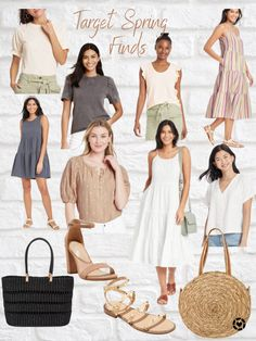 Target Spring Fashion Finds, everything from tops to bags and sundresses.