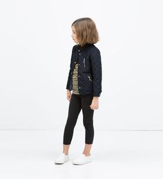 ZIPPED QUILTED COAT
