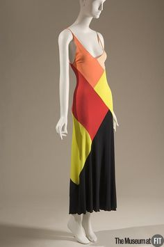 Stephen Burrows dress of multicolor rayon jersey, 1973, USA, Museum at FIT