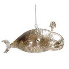 Spouting Whale Ornament