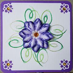 Geburtstag - Fadengrafik Grußkarten Set 121 Blumen - ein Designerstück von Bastelfan1809 bei DaWanda