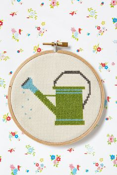 Country Living's Free Cross-Stitch Patterns  patterns stitched on 16-count Aida cloth with two strands of embroidery floss.