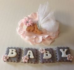 PRINCESS  BABY SHOWER Cake Topper Fondant Cake Topper baby girl
