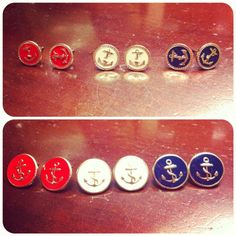 Anchor Earrings: Large: $7.50, Small: $6.25 @Page6 Boutique 803.548.0559   Have these- love them!