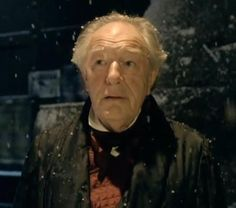 Gambon with snow Michael Gambon, Many Faces, Einstein, Snow, Eyes, Let It Snow