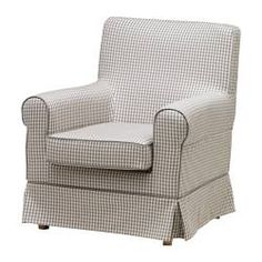 In case the kids want to keep me company EKTORP JENNYLUND  Chair, Sågmyra gray, check