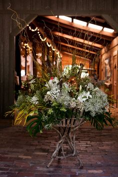 rustic floral arrangement for country wedding...wild and gorgeous