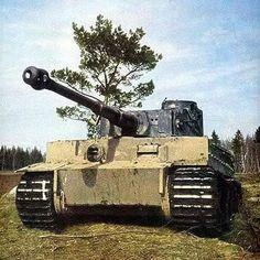 Tank Tiger I di Normandia, Perancis, 1944.