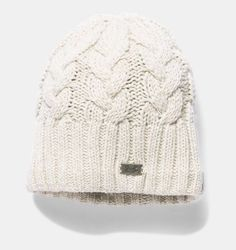19e705ad76e87 Women s UA Around Town Beanie Cable Knit Hat