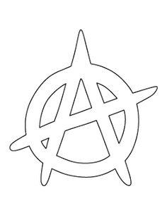 Anarchy Symbol Pattern