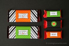 Enjoy some Free #Halloween Candy Bar Wrappers  Designed by Amy Locurto at LivingLocurto.com