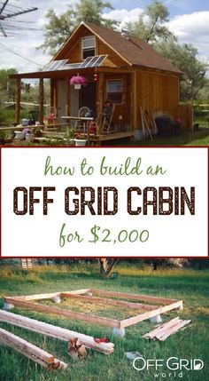 How to build a 400 square meter, solar powered off grid cabin for . Tiny House Cabin, Tiny House Living, Tiny House Design, Cabin Homes, Small House Plans, Tiny Homes, Tiny Cabin Plans, Shed Cabin, Tiny Backyard House