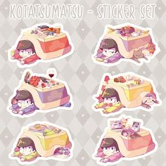 ✿ Osomatsu-san: Kotatsumatsu Sticker Set ✿ · ✿ Requi ✿ · Online Store Powered by Storenvy