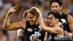 Levi Casboult, Zac Fisher, Charlie Curnow and Jarrod Garlett. Carlton Afl, Carlton Football Club, Jack Martin, Baggers, Hottest 100, My Boys, Baby Blue, Fisher, Squad