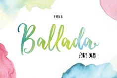 "Check out my @Behance project: ""Free Ballada Font Duo"" https://www.behance.net/gallery/59578561/Free-Ballada-Font-Duo"