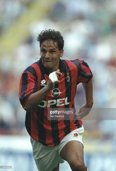Roberto Baggio of AC Milan in action during a Serie A match in Italy. \ Mandatory Credit: Ben Radford/Allsport