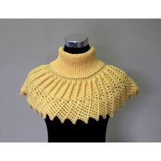 Yellow Sunflower Hand knitted Collar, Shawl, Women Infinity Scarf,... ($70) ❤ liked on Polyvore featuring accessories