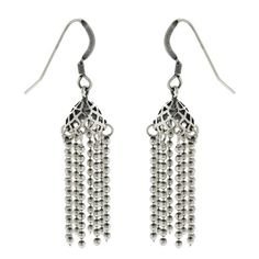 This is a lightweight designer earring made in sterling silver. Contemporary jewelry designers of India have conceived their trendy and modern designs. These earrings are particularly suitable for office goers. They are elegant yet subtle. You could buy these affordable earrings in multiple designs and wear them on different days. Besides, they also make memorable gift for friends and family.