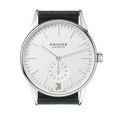 Orion 38 Datum weiß Stahlboden | Schöne Uhren online kaufen. Direkt bei NOMOS Glashütte/SA.