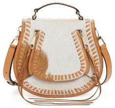 Rebecca Minkoff Small Vanity Genuine Calf Hair Saddle Bag - Brown   https://api.shopstyle.com/action/apiVisitRetailer?id=618770535&pid=uid2500-37484350-28