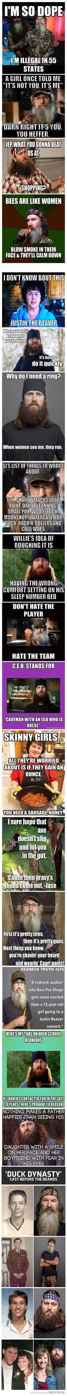 Duck Dynasty Funny Stuff!! {N's Note: tried to edit the before/after pics off of…