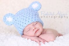 Awesome baby shower gift or photo prop, or just a cute everyday hat for the little one.  $11.99 newborn . All sizes available.