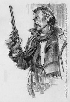 Jean Giraud, Comic Character, Character Design, D Day Normandy, Serpieri, Drawing Sketches, Drawings, Morris, West Art